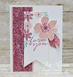 Sweet Sugarplum, You're Blooming! Stampin' Up! Blooms & Bliss DSP