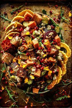Autumn Panzanella Salad (Vegan and Gluten-Free0 from HeatherChristo.com