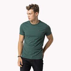 Tommy Hilfiger - Rundhals-t-shirt Aus Baumwoll-mix green grün - €