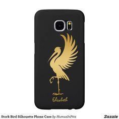 Stork Bird Silhouette Phone Case Samsung Galaxy S6 Cases