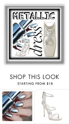 """Metallic"" by followerr ❤ liked on Polyvore featuring Giuseppe Zanotti and Miss Selfridge"