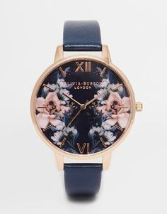 Olivia Burton Floral Big Dial Watch: $144                              …