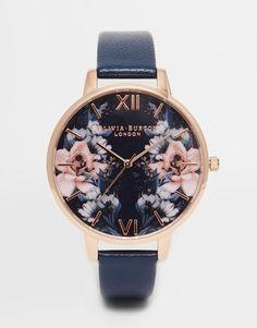 nice Olivia Burton Floral Big Dial Watch at asos.com