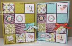 Like the squares - different pattern paper, embossing, and other embellishments