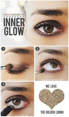 gold eye liner #holiday #beauty