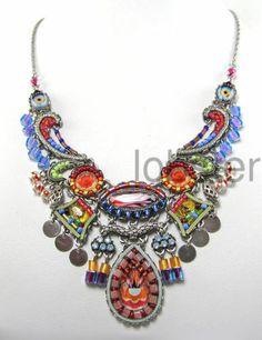 Ayala Bar Multicolor Sayulita Mosaic Silver Necklace with Swarovski Crystal 2014 | eBay
