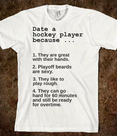 Chracter reference: Victoria's Rules for Dating a Hockey player.