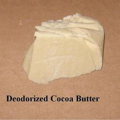Cocoa Butter - Deodorized Org/FT