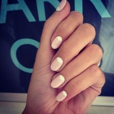 #halfmoons pale pink + white manicure via @Alex Baillie.tumblr.com