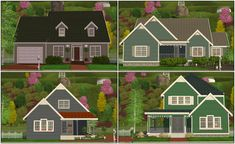 Mod The Sims - Bespoke Lot Pack II - 4 Houses