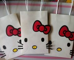 Blackshear This is cute. Maybe for a known little girls birthday. Hello Kitty Goody Bag, Birthday Party Decorations @ decorating-by-day Hello Kitty Favors, Hello Kitty Theme Party, Hello Kitty Themes, Hello Kitty Cake, Hello Kitty Pinata, Hello Kitty Crafts, Little Girl Birthday, Cat Birthday, 2nd Birthday Parties