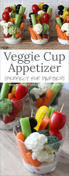 ideas for snacks for party appetizers finger foods veggie cups - Snacks Für Party, Appetizers For Party, Appetizer Recipes, Veggie Party Food, Meat Appetizers, Party Food Ideas, Vegetable Appetizers, Easy Party Food, Parties Food