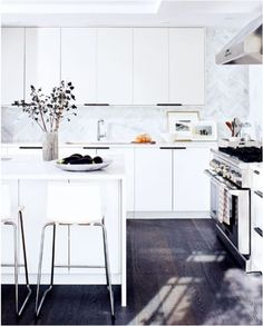I have kitchens on my mind a lot these days and I'm pinning dozens as I round up ideas for the future and of all the spaces in a home, kitchens prove the most challenging because the cabinet, tile, and surface choices are far more permanent. The kitchen is where we cook and bake, and …