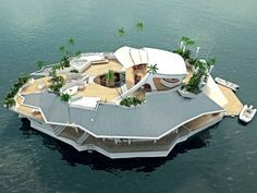 Snap up your own private island for but it does look suspiciously like a boat Water beauty: The incredible Orsos floating island offers superyacht luxury for a cool beauty: The incredible Orsos floating island offers superyacht luxury for a cool Floating Island, Floating House, Floating Boat, Small Island, Beautiful World, Beautiful Homes, Beautiful Islands, Antibes, The Incredibles