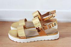 shiny gold sandals mandals aldo shoes