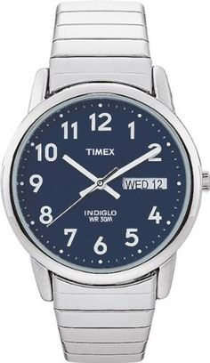 Timex Men's T20031 Easy Reader Silver-Tone Expansion Band Watch | Citizen Watches For You And Her