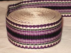 This item was hand-woven on an inkle loom. It is made from 5/2 cotton thread and is very durable! Comes with wash and care instructions. Colors: