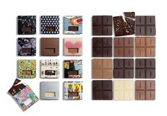 Packaging design from Bassermachen Design Studio. 12,000 pieces of chocolate have been produced - 1,000 large boxes