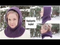 Knitting two-piece very easy Hooded scarf easy knitting models Figen Ararat Best Picture For Crochet dress For Your Taste You are looking for something, and. Knitting Blogs, Easy Knitting Patterns, Knitting For Beginners, Free Knitting, Simple Knitting, Knitted Hats, Crochet Hats, Hooded Scarf, Knit Picks