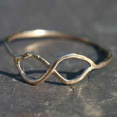 Thin Rustic Eternity Infinity Ring 14k Gold Fill Handcrafted Love Size 9.5 US by Maggie McMane Designs. $36.00, via Etsy.