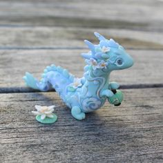 The Little Mew Polymer Clay Kawaii, Polymer Clay Dragon, Polymer Clay Dolls, Polymer Clay Charms, Cute Fantasy Creatures, 3d Fantasy, Cute Dragons, Clay Baby, Cute Clay