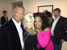 Larry & Teresa Caputo with Oprah