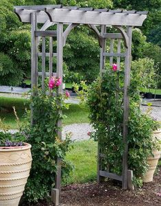 Gardening Love Use this lovely arbor as a gateway from one area of your garden to another, or as a destination in itself. - Use this lovely arbor as a gateway from one area of your garden to another, or as a destination in itself. Potager Garden, Garden Arbor, Garden Trellis, Garden Gates, Landscape Design, Garden Design, Patio Design, Arbors Trellis, Small Yard Landscaping