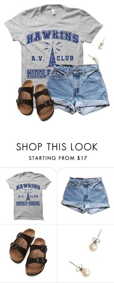 """""""Casual Wedensday"""" by flroasburn ❤ liked on Polyvore featuring Levi's, Birkenstock and J.Crew"""