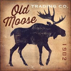 Great for 'Old Moose Trading Co.Tan' by Ryan Fowler Vintage Advertisement by Great Big Canvas Wall Art Decor from top store Canvas Artwork, Framed Artwork, Wall Art Prints, Canvas Prints, Big Canvas, Canvas Size, Rustic Artwork, Framed Prints, Moose Decor