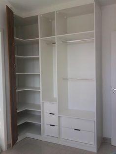 quarto de casal pequeno com guarda roupa em L - Pesquisa Google