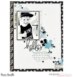 Hey everyone, it's Raquel here with you today on the CVS blog. Today I am sharing a new layout I created just for fun using the You Rock collection. I took this photo of my little man in December and knew right away that I needed to scrapbook it using the You Rock collection. Here is