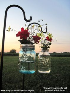 Hanging Mason Jar Lids 10 Outdoor Wedding Candle by treasureagain, $30.00