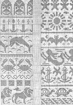 DIVNA& SWEATERS: My collection of knitting chart patterns, jacquard style of knitting for children Motif Fair Isle, Fair Isle Chart, Fair Isle Pattern, Knitting Charts, Knitting Stitches, Free Knitting, Sock Knitting, Vintage Knitting, Filet Crochet