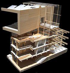 Echo Park Civic Center Detail Section Model Section Drawing Architecture, Architecture Résidentielle, Architecture Building Design, Facade Design, Organic Architecture, Architecture Portfolio, Contemporary Architecture, Architecture Organique, Arch Model