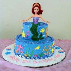 Ariel Birthday Cake . my mom made a way more awesome one for my 7th bday!!
