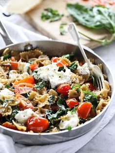 Fresh Tomato And Ricotta Whole Wheat Pasta Healthy pasta is as easy as switching to whole wheat.