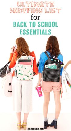 Back to school essentials for high school and college students. Perfect for middle school and highschool. Teens and preteens will love these cute back to school supplies