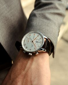 In some cases part of that image is the quantity of money you invested to use a watch with a name like Rolex on it; it is no secret how much watches like that can cost. Iwc Watches, Cool Watches, Watches For Men, Wrist Watches, Elegant Watches, Beautiful Watches, Modern Watches, Breitling, Iwc Chronograph