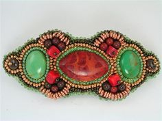 Southwest Delight Bead Embroidery Hair Barrette. $50.00, via Etsy.