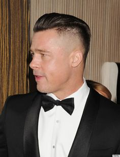 Brad Pitt is hopping onto my #shaved #sides trend?