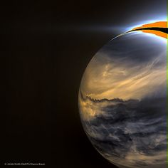 Venus in infrared, by Damia Bouic