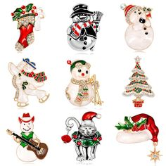 Kingdeng Christmas Snowman Brooches For Women Enamel Pin Brooch Pins Girls Jewelry Kids Christmas Cute Pins 2018 Fashion Easy To Lubricate Brooches Jewelry Sets & More
