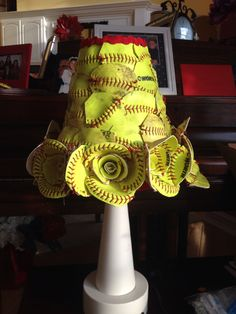 Lamp made out of softballs!
