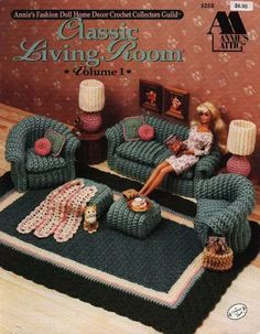 Find This Pin And More On BARBIE CROCHET Crochet Pattern Barbie Furniture Classic Living Room