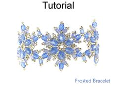Beading Tutorial Pattern - Beaded Snowflake Bracelet - Winter Jewelry - PDF Download - Simple Bead Patterns - Frosted Bracelet #24169