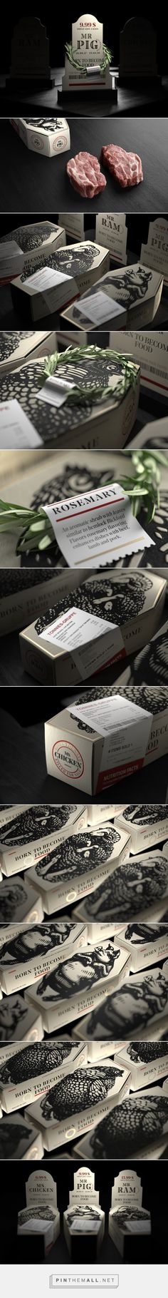 """Born to become food"" - R.I.P packaging design by Constantin Bolimond - https://www.packagingoftheworld.com/2018/03/rip.html"
