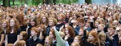 15 facts about redheads:  Redheads have their own annual festival called Roodharigendag (in Dutch). It takes place in Breda, The Netherlands, and it is attended by thousands of people with natural red hair. -   :  It's the rarest hair colour in the world: perhaps that's why we love them. We've searched hard and uncovered our favourite facts about redheads: click through to check them out.   * (pic ref: Ermindo Armino - Ermindo Armino/AP Photo)  *** awesome!