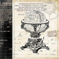 'Paris Globe' by Tre Sorelle Studios Graphic Art Print on Wrapped Canvas Jaxson Rea Size: H x W Painting Frames, Painting Prints, Art Prints, Poster Prints, Canvas Prints, Tour Eiffel, Collages D'images, Leonid Afremov Paintings, Shabby