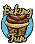 """Baking Fun Patch (cupcake). Our """"Baking Fun"""" patch looks good enough to eat! Spend some time with your Girl Scout troop baking a delicious dessert and top it off with our """"Baking Fun""""  Patch. Available at MakingFriends.com"""