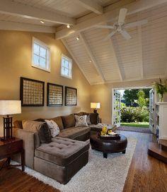 Family Room - Interior Design Idea in Santa Barbara CA I loooove this couch!!